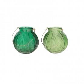 Porta velas en cristal para decoración marinera