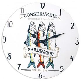 Reloj marinero sardina decoración náutica