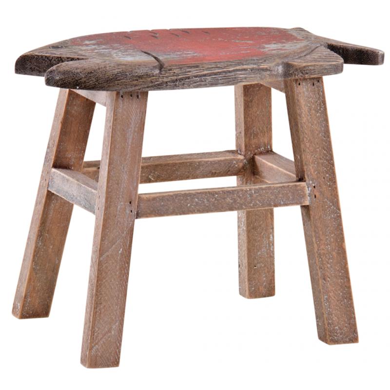 Taburete náutico de madera para la decoración marinera