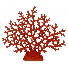 Coral marino rojo en resina para decoración marinera