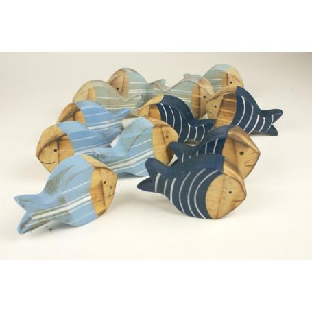 Peces marinos de decoración tallados en madera