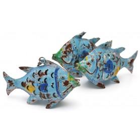 Porta velas náutico pez de hierro