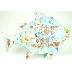Portavelas marinero pez de hierro