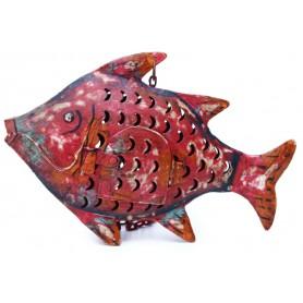 Portavelas pez colgante para decoración marinera