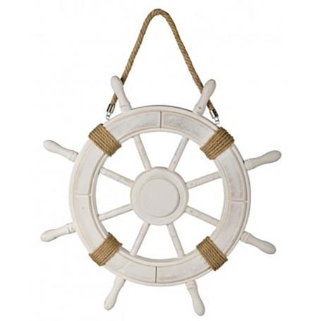 Rueda de timón marinero para decoración náutica
