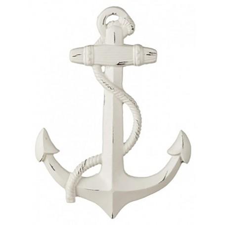 Ancla náutica en madera para la decoración marinera.