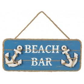 Placa de madera con anclas marítimas para decoración náutica