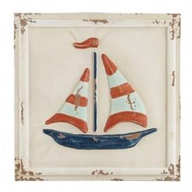 Cuadro velero náutico estilo rústico para la decoración marinera