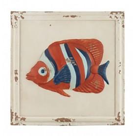Cuadro pez náutico estilo rústico para la decoración marinera