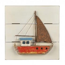 Cuadro náutico velero pared para decoración marinera