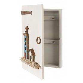 Armario colgador de llaves náutico para decoración marinera