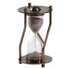 reloj de arena o ampolleta corredera  en latón