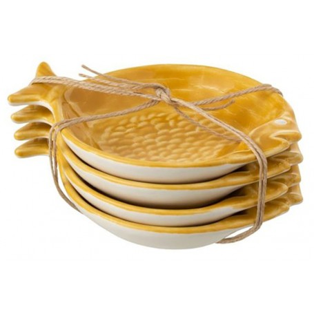 Plato hondo pez náutico cerámica