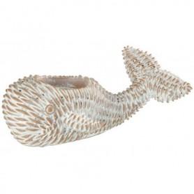Figura ballena náutica en resina