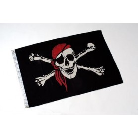 Bandera náutica de pirata en algodón