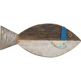 pez decorativo de pared en madera