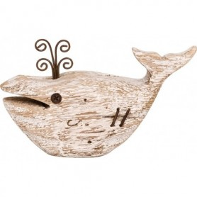 ballena decorativa de madera