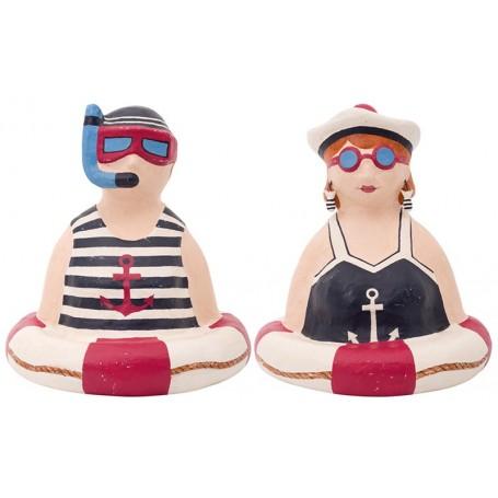 Figuras decorativas bañistas años 20