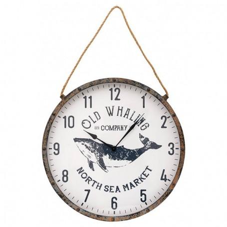 Reloj marinero decorativo ballena