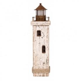 Faro de madera y metal decorativo