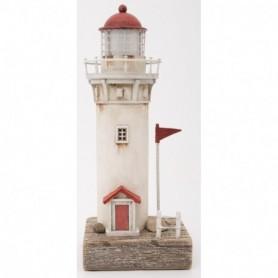 Faro madera decorativa con LED