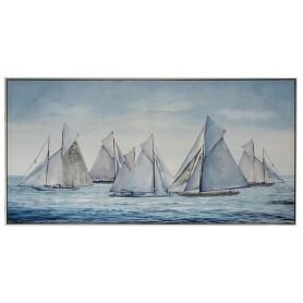 Lienzo náutico barcos en el mar