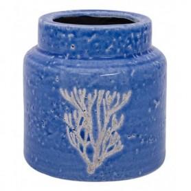 Jarrón cerámica con motivo marinero