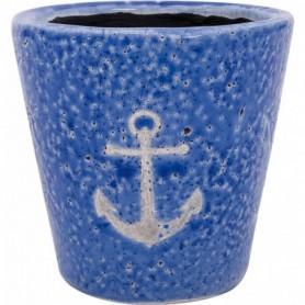 Macetero cerámica con ancla