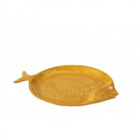 Plato decoración náutica pez marinero cerámica