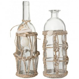 Botellas para decoración marinera