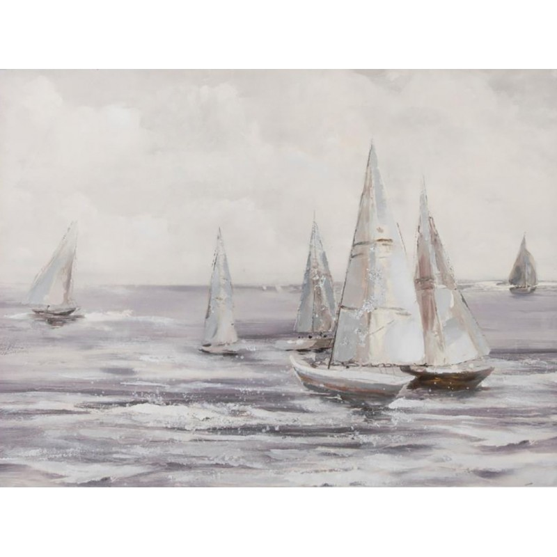 cuadro pintado a mano marinero