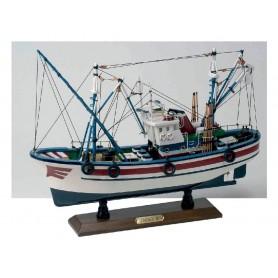 Maqueta naval montada pesquero del cantábrico