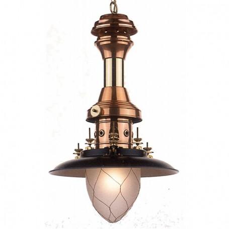 Lámpara pescador cobre latón