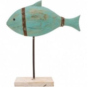 figura pez madera