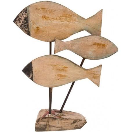 figura peces madera