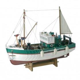 Barco pesquero en maqueta naval