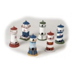 Faro náutico en miniatura de hojalata