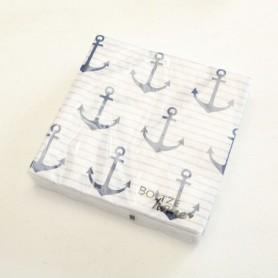 servilletas de papel anclas decorativas