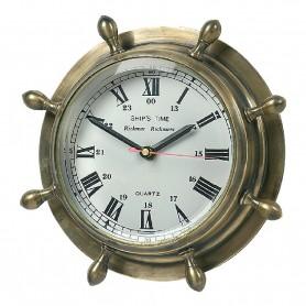 Reloj timón de latón