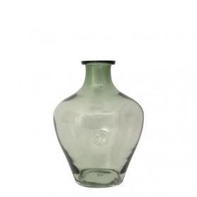 Botella translúcida tipo ánfora estilo marinero