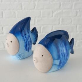 Figura marinera pez náutico cerámica