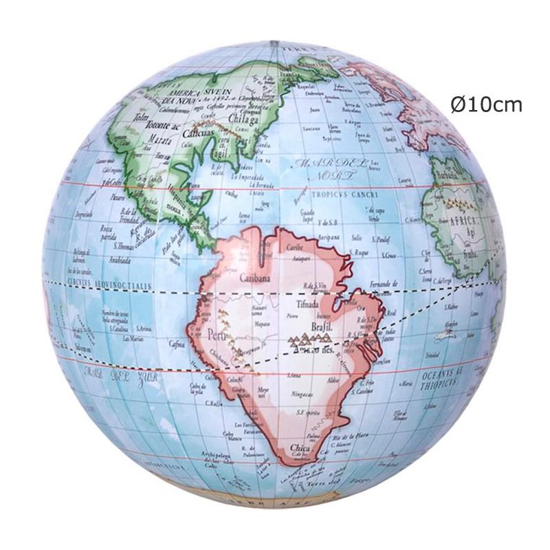 Globo terráqueo del Mapamundi 10cm