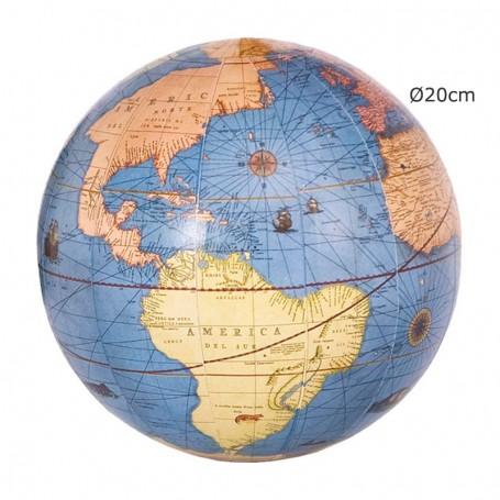 Globo terrestre del mapa del mundo
