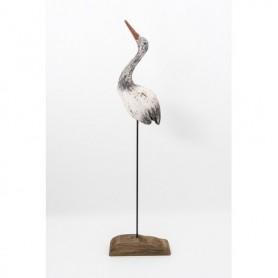 Pájaro de madera sobre base