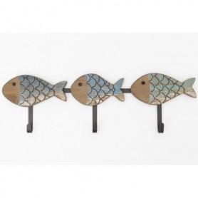 Perchero de pared peces marinos