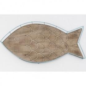 Bandeja de madera pez decorativo