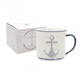Taza náutica ancla de porcelana