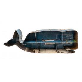 Estantería marinera ballena en metal