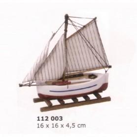 Miniatura barca de pesca a vela