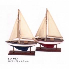 Miniatura marinera de velero rustico